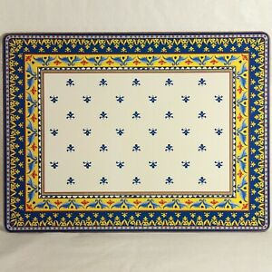"William Sonoma SCILLY Hard Cork Board 12"" x 16"" Rectangular Placemat"