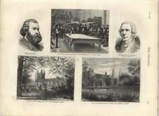 1875 American biliardo TORNEO Bennett giocando STANLEY eversley Chiesa