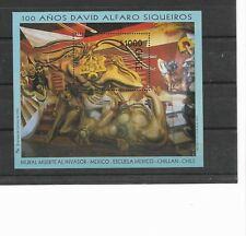 "CHILE YEAR 1997 SIQUEIROS MURAL ART PAINTING ""DEATH TO INVASOR"" SCOTT 1215 SS"