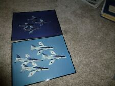 "(2) 11"" x 14"" Pictures Japan's Blue Impulse Airshow Flight Demonstration Team"
