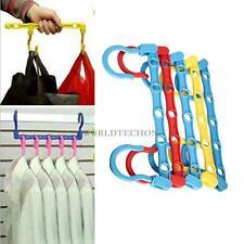 5 Pcs Useful 5-Hole Space Saver Wonder Magic Hanger Hook Closet Organizer WT7n