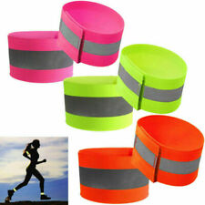 2Pcs High Visibility Arm Strap Bands Reflective Safety Band Florescent Leg Arm.b