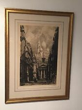 Le Fantome Alonzo C.WEBB Etching Signed Framed Print Limited 59/100