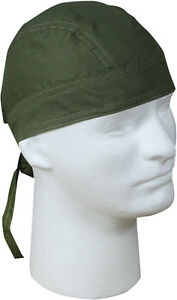 Head Wrap Do-Rag Bandana Scarf Biker Camo Cotton Head Cover