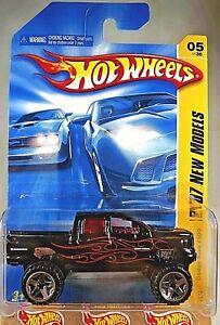 2007 Hot Wheels #5 New Models 5/36 DODGE Ram 1500 Black Variant w/Chrome ORUT5Sp