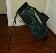 Burton Golf Club Stand Bag Green With Shoulder Strap / Rain Hood #4211
