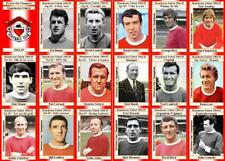 Manchester United 1965 Division One Champions football trading cards (1964-65)