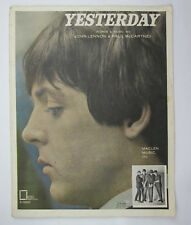 Yesterday Sheet Music by John Lennon and Paul McCartey STAINING DAMAGE TO BACK