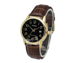 -Casio MTPV002GL-1B Men's Strap Fashion Watch Brand New & 100% Authentic