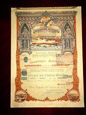 Carregadores Acoreanos ,share certificate 1928 Azores Portugal  Shipping Co. G+