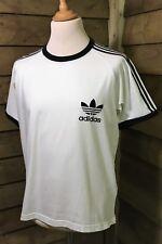 Adidas ORIGINALS Retro WEST GERMANY Style T-Shirt Cream/Black XL