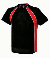 Mens sports gym breathable Team top T shirt black red Size S L 2XL XXL  NEW