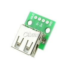 10PCS USB Female Port Connector Breakout Board Power 2.54mm Header for Arduino