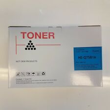 HP Q7581A Cyan Compatible Toner - 6,000 pages