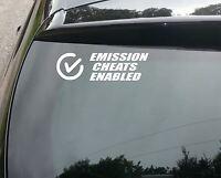 EMISSION CHEATS FUNNY CAR WINDOW BUMPER JDM DUB VAG VW VINYL DECAL STICKER