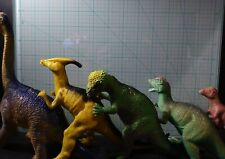 16 Dinosaurs, 10 Types Collectable Figures/Toys Lot Some Vintage 1 Jurassic Park