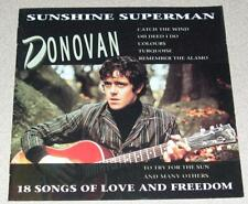 DONOVAN - Sunshine Superman,18 Songs of Love (CD, 1993) Made in Portugal