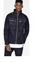 G-STAR RAW Arc Zip 3D Slim Jacket Raw Denim Mens Size UK Small *REF8-12