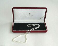"""MIKIMOTO AKOYA VINTAGE PEARL NECKLACE 25"""" STERLING SILVER Pearl CLASP Appraised"""