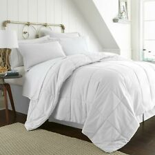 WHITE 8 Piece  Bed in a Bag Comforter Sheet Set Shams Bedding Microfiber Linens