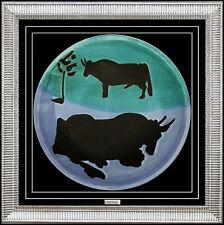 PABLO PICASSO Original MADOURA CERAMIC Plate Authentic Artwork Plein Feu Toros