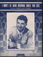1947 Dick Jurgens and Billy Fairman Music (I Won't Be Home Anymore When You Call