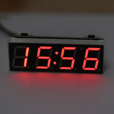 Car Auto 12V 24V Digital LED Electronic Time Clock + Thermometer + Voltmeter New