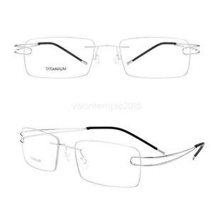Custom Prescription Silver Glasses Photochromic Lens Titanium Frame Eyeglasses