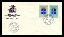 Iceland 1969 FDC, 25th Anniversary of the Republic. Lot # 3.