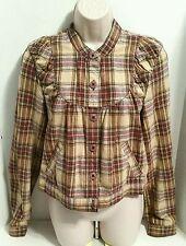 Free People Women's Beige Linen Jacket Coat Size Medium Flawless