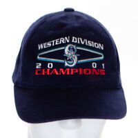 Seattle Mariners Western Division Champs 2001 Baseball Cap Hat MLB Blue