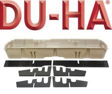 DU-HA 10421 Underseat Storage GunCase Box 2019 Chevy Silverado 1500 Double Brown