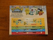 Pokepark 2 Nintendo Wii Controller Stickers Skins Promo - Brand New