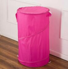 """Hot Pink  30"""" Laundry Hamper basket - Pop Up Durable Wired"""