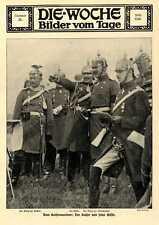 Kaiser Wilhelm II. und Gäste beim Kaisermanöver in Freiburg in Schlesien 1913