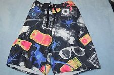 Boys size 10 Old Navy swim shorts Dinosaur print mesh lined