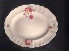 More details for vintage j&g meakin sol sunshine large serving plate platter decorated flowers