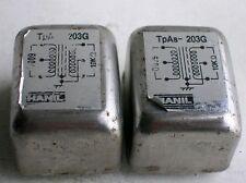 2 pcs HANIL Made by Tamura TAMRADIO Audio Transformer TpAs 203G 600Ω : 10KΩ