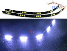 """2x 12"""" Flexible Strip LED Day Time Running Light DRL Super White 15-SMD 12V"""