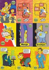 THE SIMPSONS 10TH ANNIVERSARY CELEBRATION 2000 COMPLETE BASE CARD SET OF 81 AN