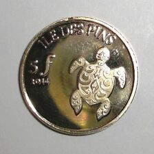 2014 Ile Des Pins 5f, Turtle, animal wildlife coin