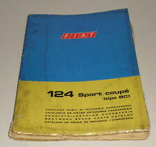 Spare Parts Catalogue Body Fiat 124 Sport Coupe Stand 1969