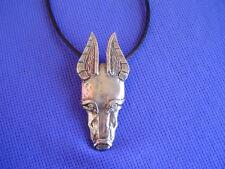 Doberman Pincher Necklace Adobus #29G Fun dobie dog jewelry by Cindy A. Conter