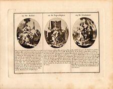 Stampa antica CRUDELTA' INGIUSTIZIA MALE allegorie 1790 Old Print Engraving