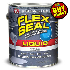 Flex Seal Liquid - Liquid Rubber Sealant Coating - Giant 128oz (Gray)