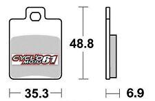 Plaquettes de frein arrière Peugeot Citystar 125 2011 à 2014 (S1108)