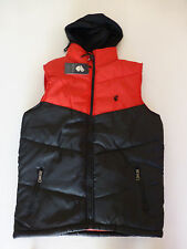 Rocawear Mens Size Medium Black & Red Hooded Puffer Vest New