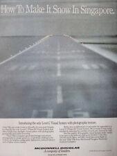 1992 PUB MCDONNELL DOUGLAS VITAL VII VISUAL SIMULATION SYSTEM SNOW SINGAPORE AD