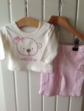 Baby Girl's Clothes Newborn - Cute Bear Theme 2pc Set -Top/Trousers