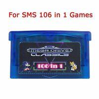 SMS 106 en 1 Jeux Sega Master System pour Cartouches Game Boy Advance GBA SP GBM